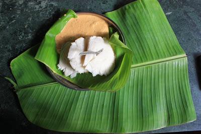 Akki idli or rice idly with coconut chutney breakfast at BR Hills