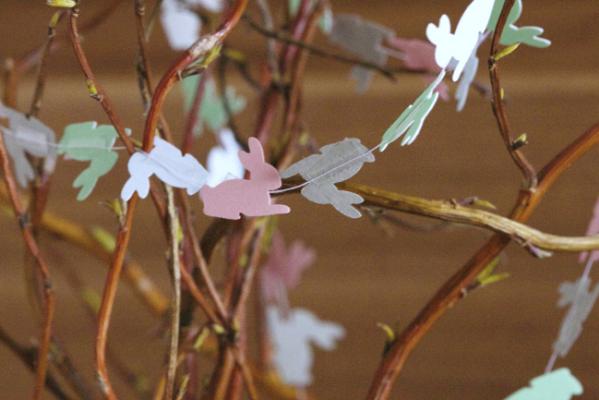 Häschen-Girlande Ostern DIY Fleurcoquet