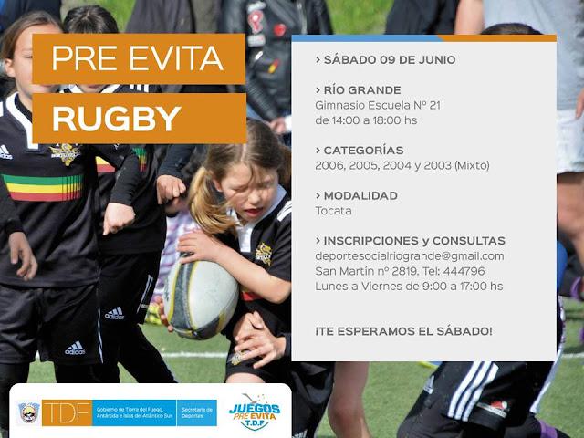 Se vienen los Pre-Evita de Rugby en Río Grande
