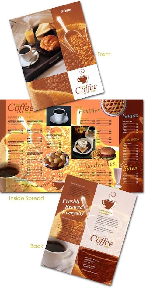 Plantilla editable en InDesign para crear menu de restaurante