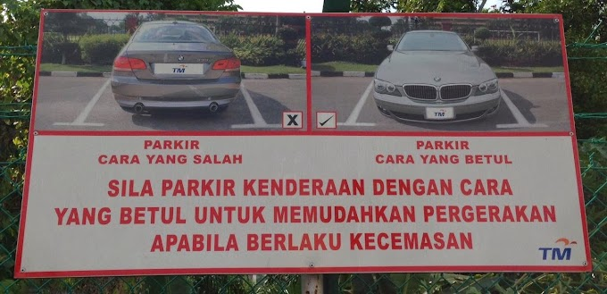 WORDLESS WEDNESDAY : PARKING YANG BETUL