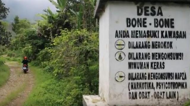 Desa bone-bone bebas asap rokok pertama di dunia