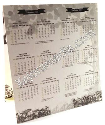 undangan bentuk kalender duduk brebes