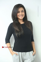 Telugu Actress Mishti Chakraborty Latest Pos in Black Top at Smile Pictures Production No 1 Movie Opening  0014.JPG