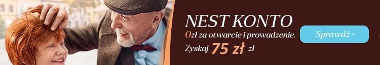 75 zł premii do darmowego Nest Konta
