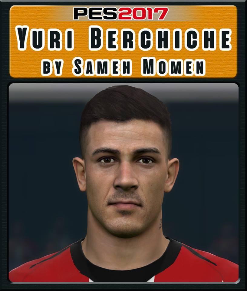PES 2017 Y. Berchiche face by  Sameh Momen