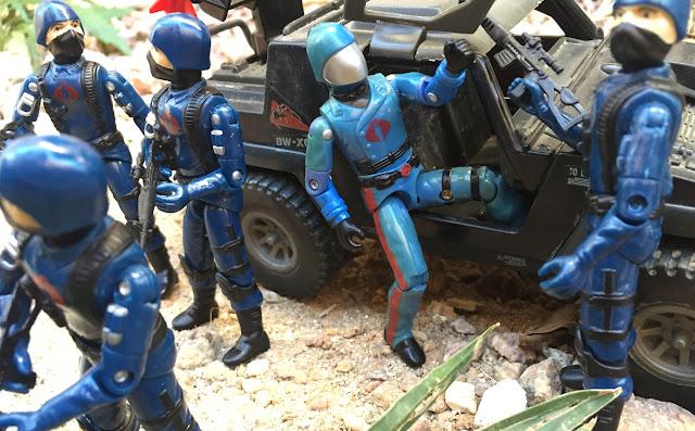 1983 Cobra Commander, 1984 Stinger, Cobra Trooper, Viper Pilot, Bootleg, Black Major