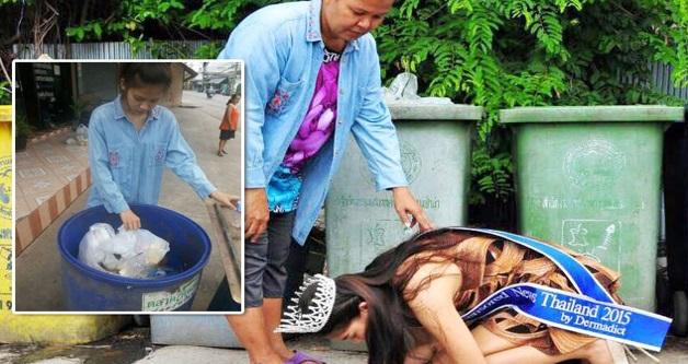 Image result for Miss Thailand Yang Sanggup Melutut Depan Ibunya
