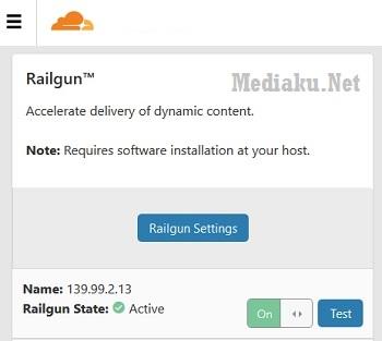 Railgun CloudFlare Aktif