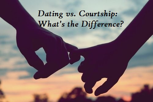 What is difference between dating and courtship