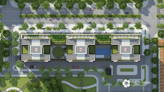 Phối cảnh 3 tòa chung cư K1 K2 K3 dự án The K Park