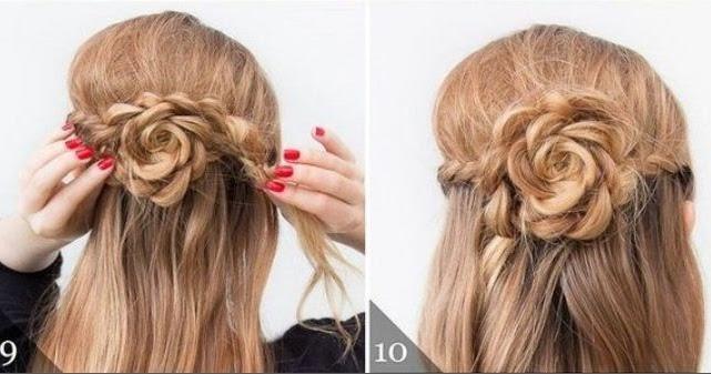 Peinados f ciles y cabello semi recogido con trenzas - Peinados para bodas faciles de hacer en casa ...