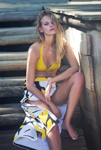 Marloes Horst hot models photo shoot for Marie Claire Magazine Italia