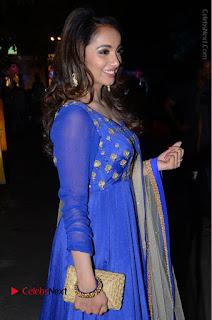 Telugu Actress Tejaswi Madivada Pos in Blue Long Dress at Nanna Nenu Na Boyfriends Audio Launch  0050.JPG
