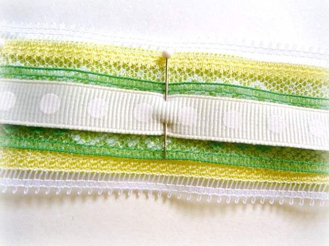 Layering Simple Ribbon and Lace for Beading by Dana Tatar