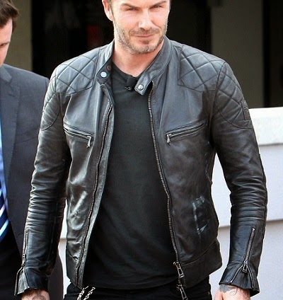 Gambar Leather Jacket David Beckham