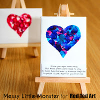 valentines day craft ideas for kids:  fingerprint keepsake and poem