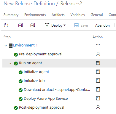 VSTS Release to Web App
