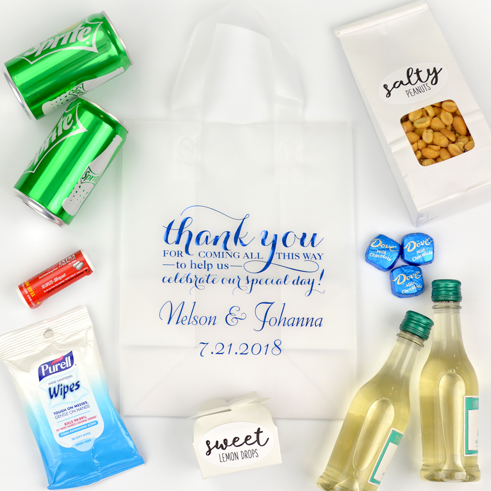 Frosted Wedding Welcome Gift Bag
