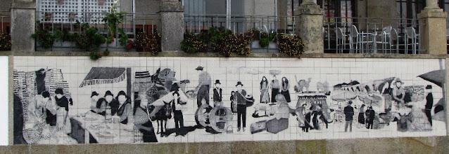 Painel de azulejos no cento de Ponte de Lima