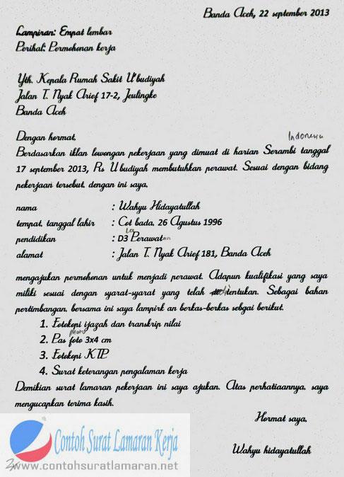 Menulis surat dengan bahasa indonesia yang baik dan benar. Contoh Surat Lamaran Kerja Tulis Tangan | Contoh Surat Lamaran