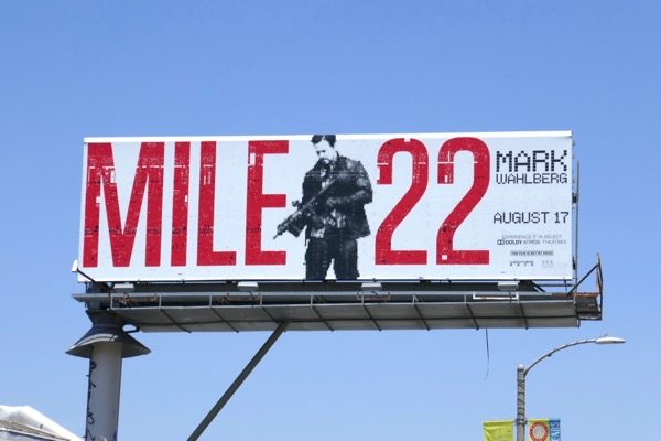 Mile 22 movie billboard