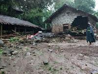 Dam Losari Prambanan  Jebol, Satu Rumah Warga Hanyut