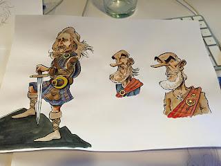Des croquis, des recherches, du caractère design pour la pub... ©Guillaume Néel