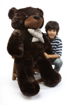 This Is Brownie Cuddles, 46in dark brown teddy bear
