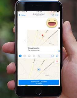 Cara Berbagi Lokasi di Facebook Messenger Pada iPhone