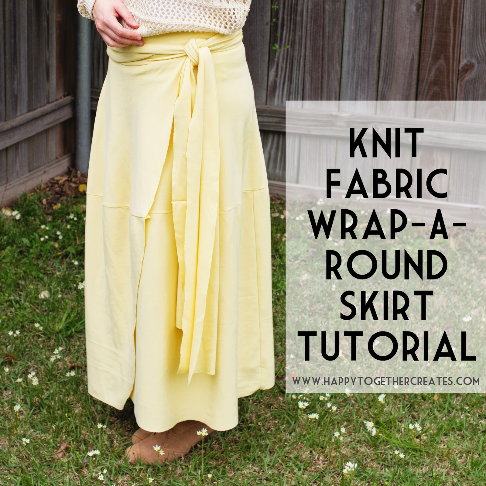 Knit Fabric Wrap A Round Skirt Tutorial