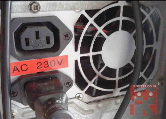 gambar ilustrasi power supply tidak mau berputar