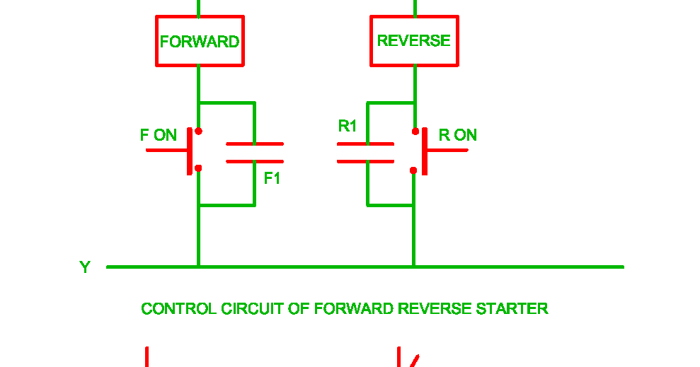 control circuit of forward reverse starter electrical revolution