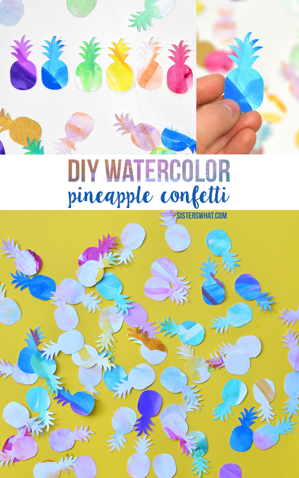 diy pineapple confetti straws