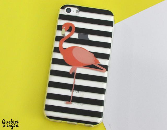 Minha capinha de flamingo da Print4me
