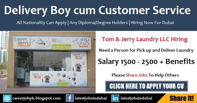 Customer Service cum Delivery Boy Jobs in Dubai