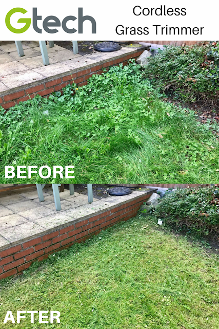 BEFORE/AFTER GTech Cordless Grass Trimmer