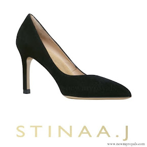 Princess Sofia wore Stinaaj Stina black suede shoes. Sofia Hellqvist Style