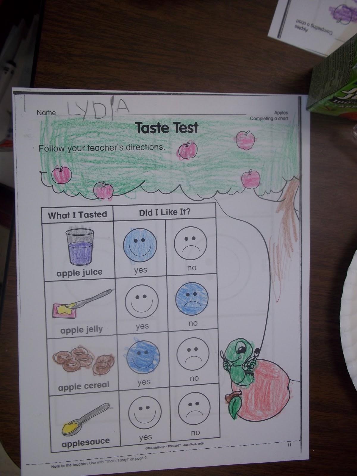 Mrs Wood S Kindergarten Class Apple Food Tasting
