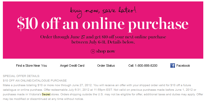 victoria secret coupons free shipping 50