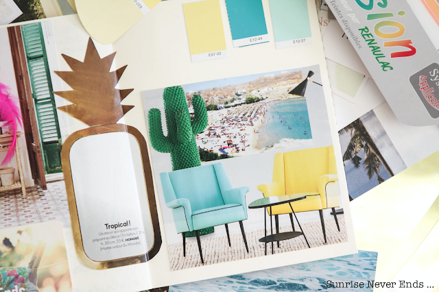 moodboard,inspiration,sunrise collective,coaching déco,déco,hossegor,home staging,airb'n,honoré déco,ananas,gamme de couleurs,ambiance