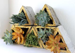 Vaso modulare con triangoli in cemento tutorial