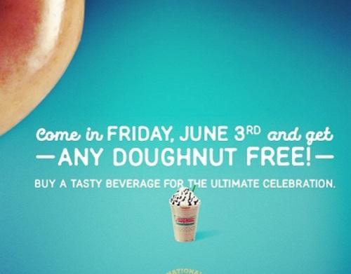 Krispy Kreme Free Doughnut National Doughnut Day