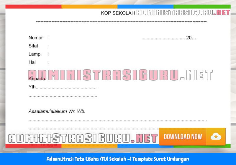 Contoh Format Surat Undangan Administrasi Tata Usaha Sekolah Terbaru Tahun 2015-2016.docx