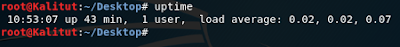 uptime linux command