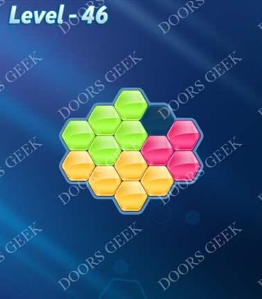Block! Hexa Puzzle [Rainbow A] Level 46 Solution, Cheats, Walkthrough for android, iphone, ipad, ipod