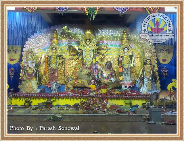2016 Golaghat, Assam Durga Murti Photo in India