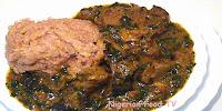 Nigerian ogbono soup with bitter leaf, nigerian soup recipe, Nigerian food tv
