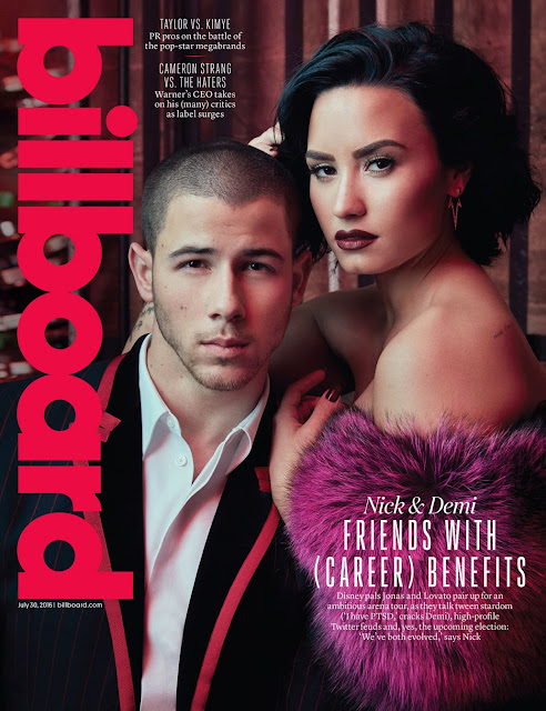 Actress, Singer, Model, @ Demi Lovato & Nick Jonas – Billboard July 2016