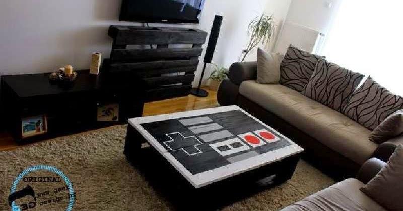Mueblesdepaletsnet Una mesa de palets con forma de pad